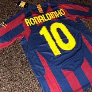 New Barcelona Ronaldinho Soccer jersey